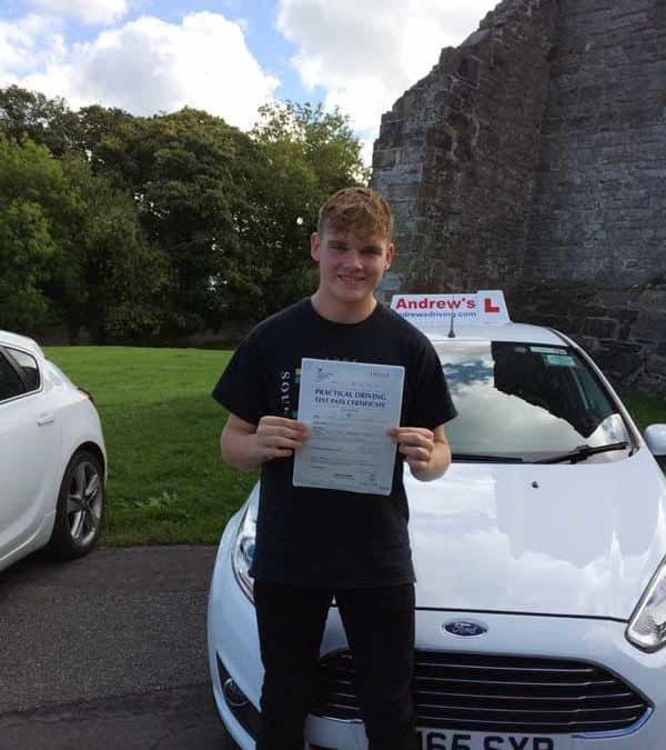 Luke's driving test in Rhyl