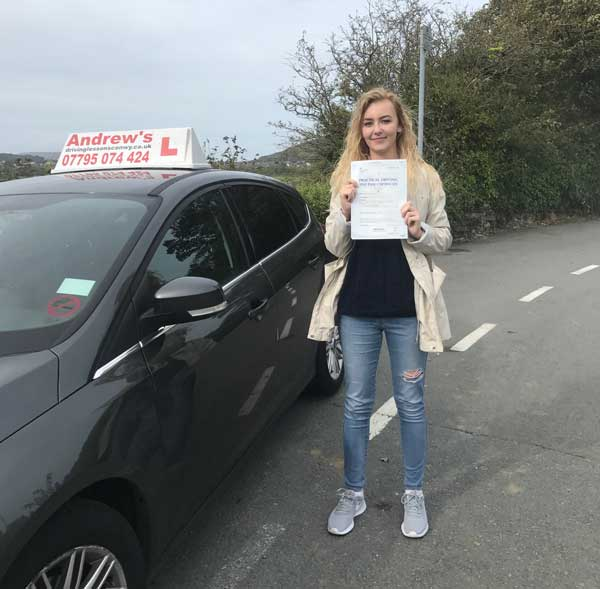 Maggie passed first time.