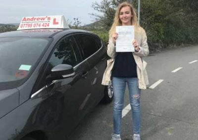 Maggie Hopwood passed first time  on 19th September 2018.