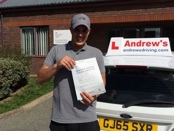 Remi passed driving test in Rhyl