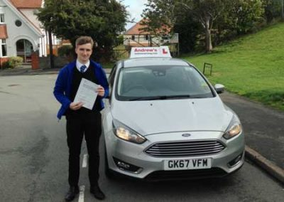 Daniel passed first time 21st September 2018.