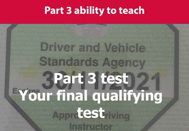 Qualified driving instructor badge