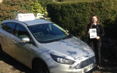 Aimee from Glan Conwy passed first time.