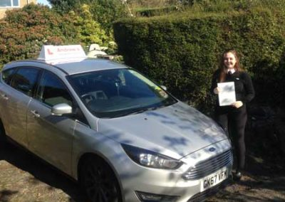 Aimee from Glan Conwy passed first time in Bangor 15th October 2018.