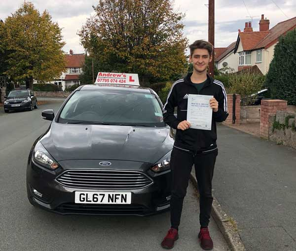 Connor passed in Rhyl