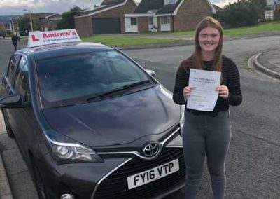 Georgia Richards passed first time in Rhyl 4th October 2018.