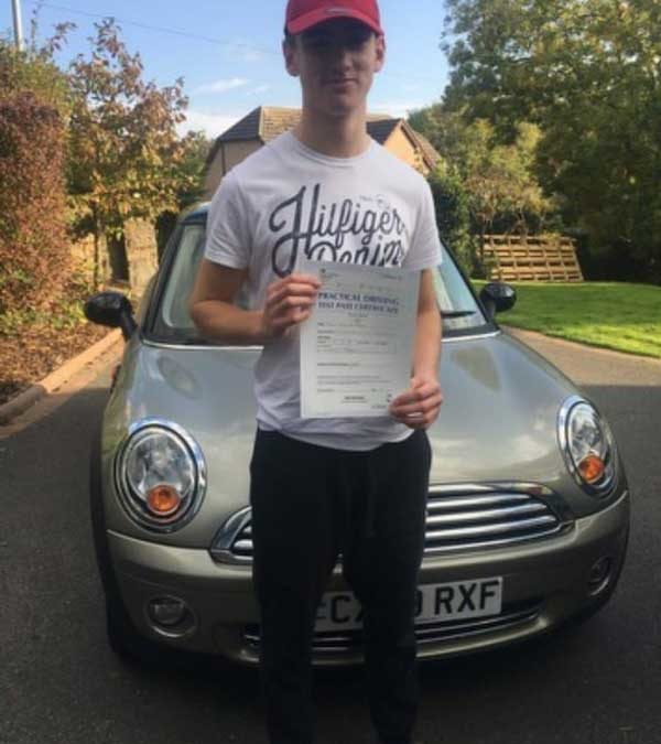 Harri Passed first time in Bangor