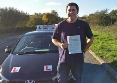 James Mcintosh passed first time in Bangor 30th October 2018.
