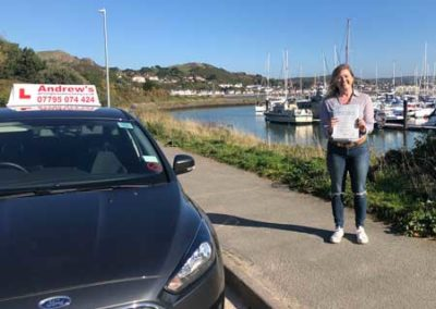 Lara passed first time in Bangor 10th October 2018.