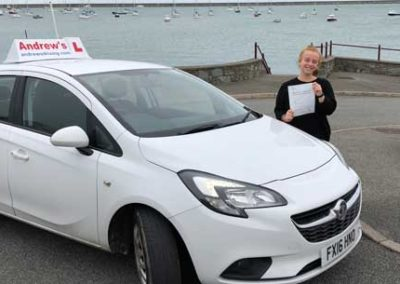 Robyn loynd passed first time at Bangor 9th October 2018.