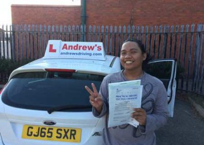 Romie passed first time at Rhyl  10th October 2018.