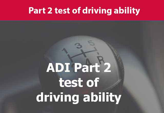Gearstick depicting driving instructor training tests