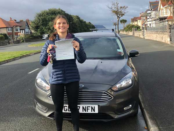 Francesca passed first time