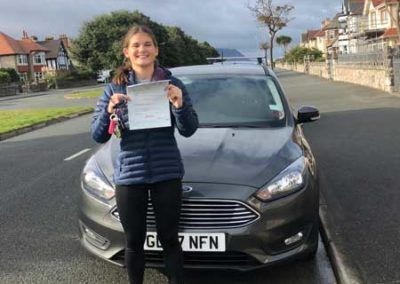 francesca Pitton passed first time in Bangor 2nd October 2018.