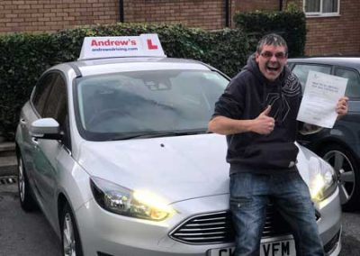 Ian Carruthers passed his driving test in Bangor today 19th November 2018.