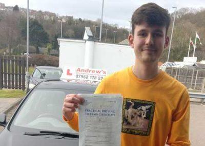 Luke Williams Passed in Bangor March 2018