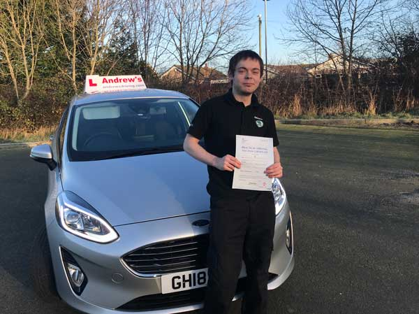 Brad passed first time