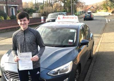Evan Williams passed first time on 2nd Junuary 2019.