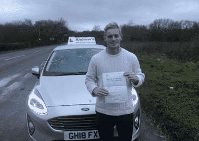 Henry Holden passed first time after a 12 hour driving course 7th January 2019.
