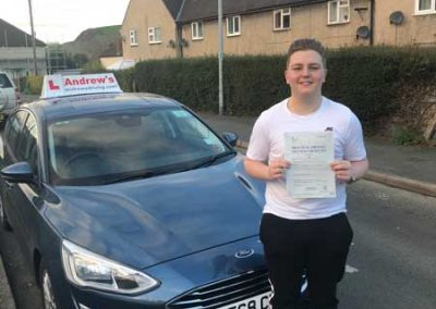 Nathan Hackworth passed first time January 9th 2019.