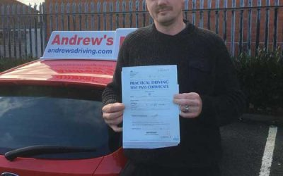 Shaun's driving test in Rhyl