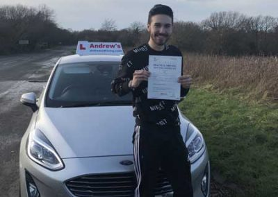Ismail from Llandudno passed in Bangor 17th January 2019.