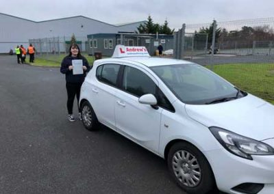 Jessica Williams from Holyhead passed at Bangor  11th January 2019.
