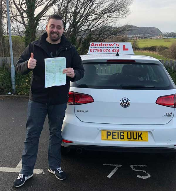 Tomas from Colwyn Bay passed ADI part 2