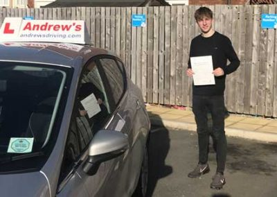 Brendan Lundstram from Llandudno passed first time on 14th February 2019.