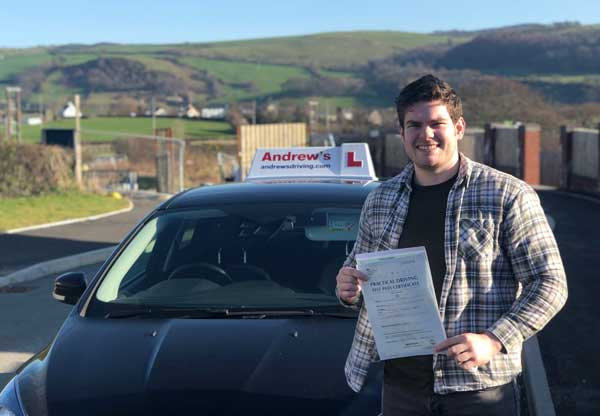 Corey passed first time