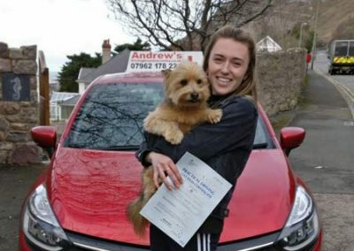 Abbie Parry from Llandudno passed on 4th March 2019