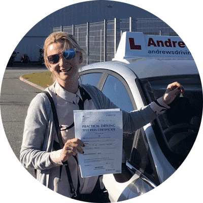 Lara took an intensive driving course in Conwy