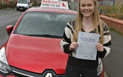 Nia passed first time in Rhyl