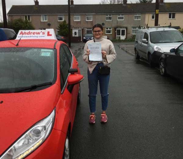 Olivia passed in Rhyl