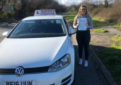 Olivia Jackson passed in Bangor 1st March 2019