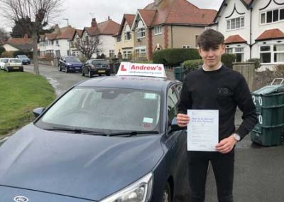 Tim Edwards passed first time with no minors 8th March 2019
