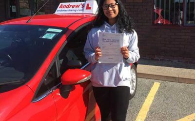 Sasi Driving test in Rhyl.