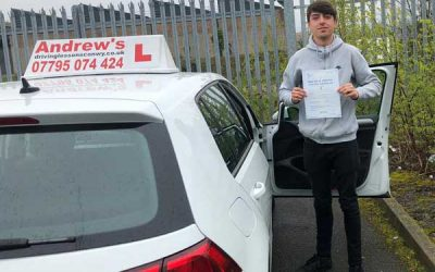Kieran passed first time.