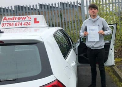 Kieran Talbot passed first time with just one minor 16th April 2019.