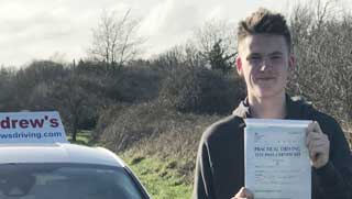 Ste from LLandudno Junction after passing his driving test.