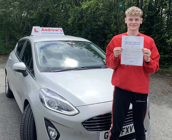 Daniel in Old Colwyn after driving test.