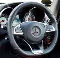 Steering wheel with power steering