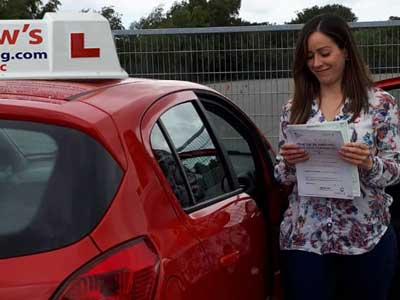 Mariana in Bangor with her new automatic licence