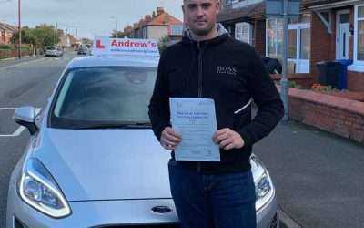 Connor passed at Rhyl Driving Test Centre