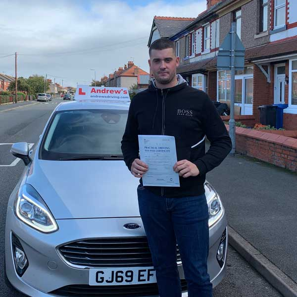 Connor at Rhyl Driving Test Centre