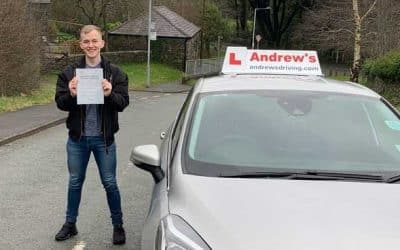 Kieran passed after an intensive driving course.