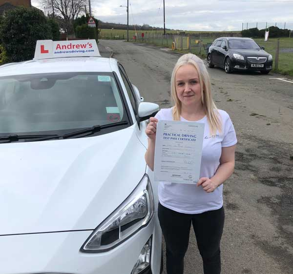Lisa in Llysfaen after her driving lessons