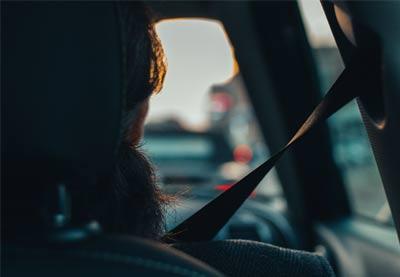 Driver in a car