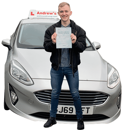 Tomas and pupil after driving instructor part 3 test
