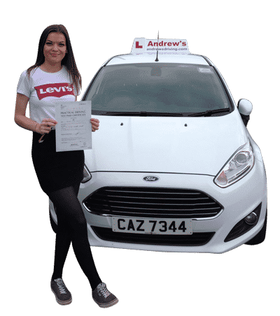 Tegan with  her driving school review